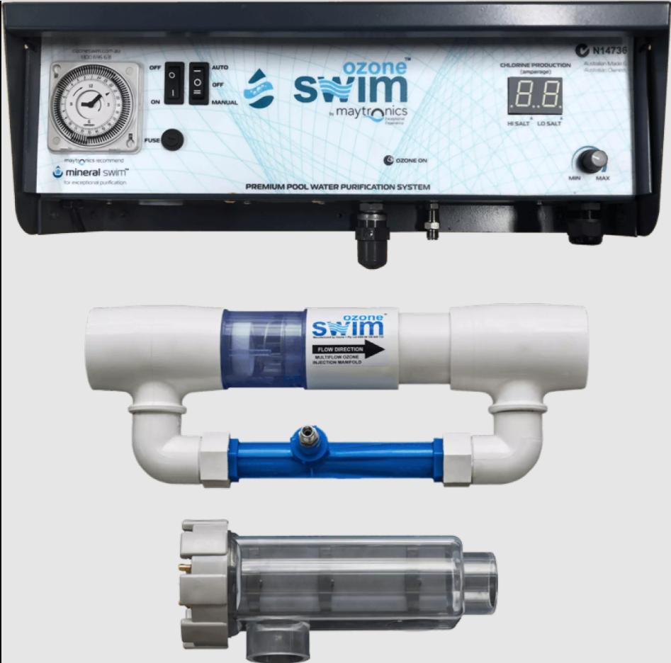 Maytronics Ozone Swim 1000 Ozone Generator + Salt Chlorine Generator for Swimming Pools